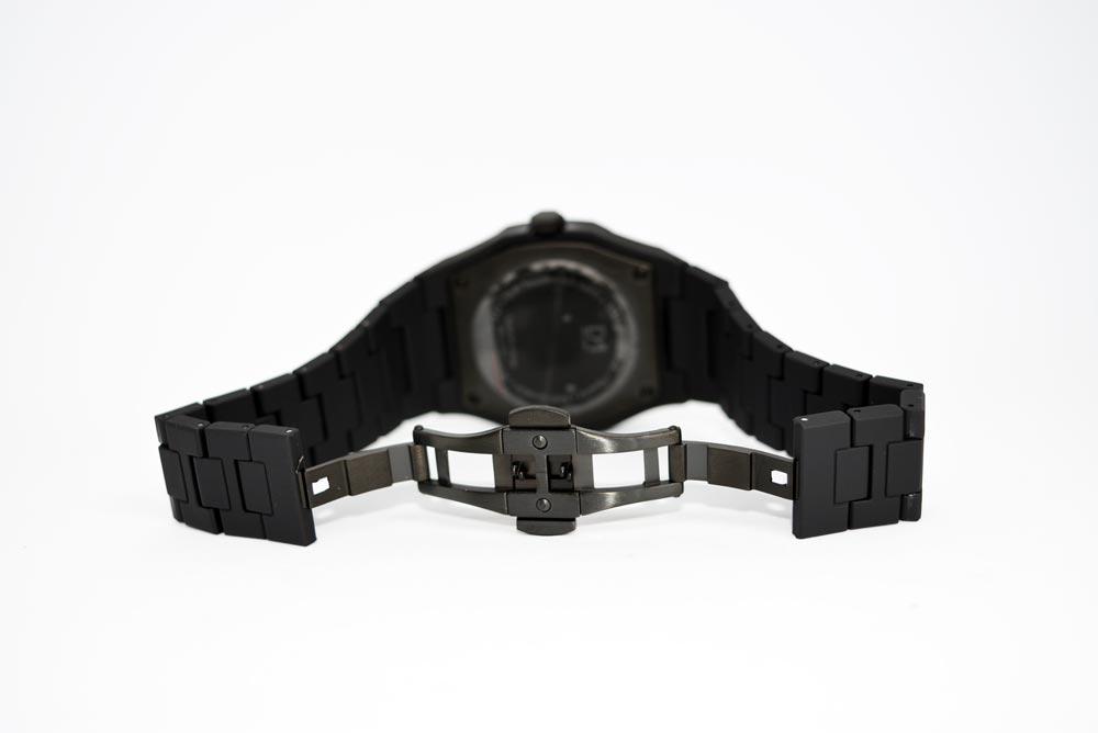 bracciale in policarbonato e chiusura deployante in acciaio 316L