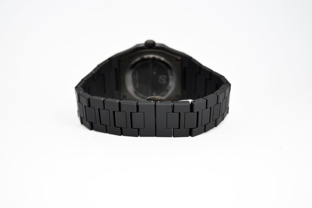 bracciale in policarbonato nero opaco