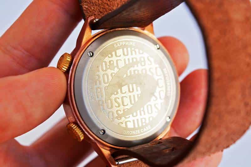orologio scuro bronz
