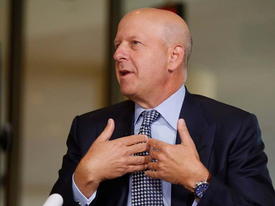 David Solomon con indosso Shinola Runwell Chronograph