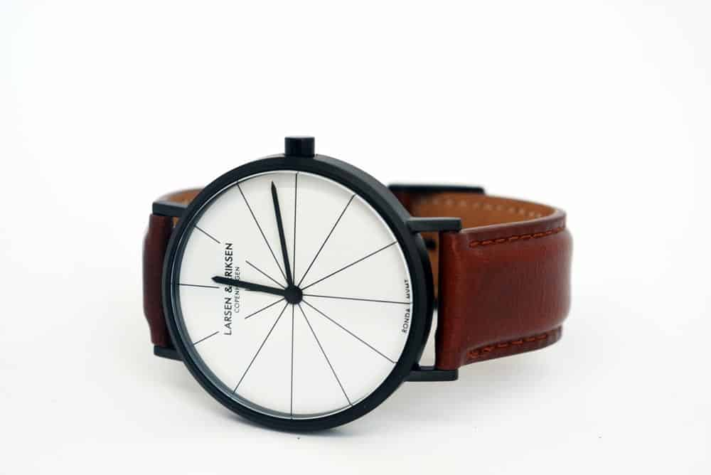 recensione orologio Larsen & Eriksen 41 mm Black White Brown