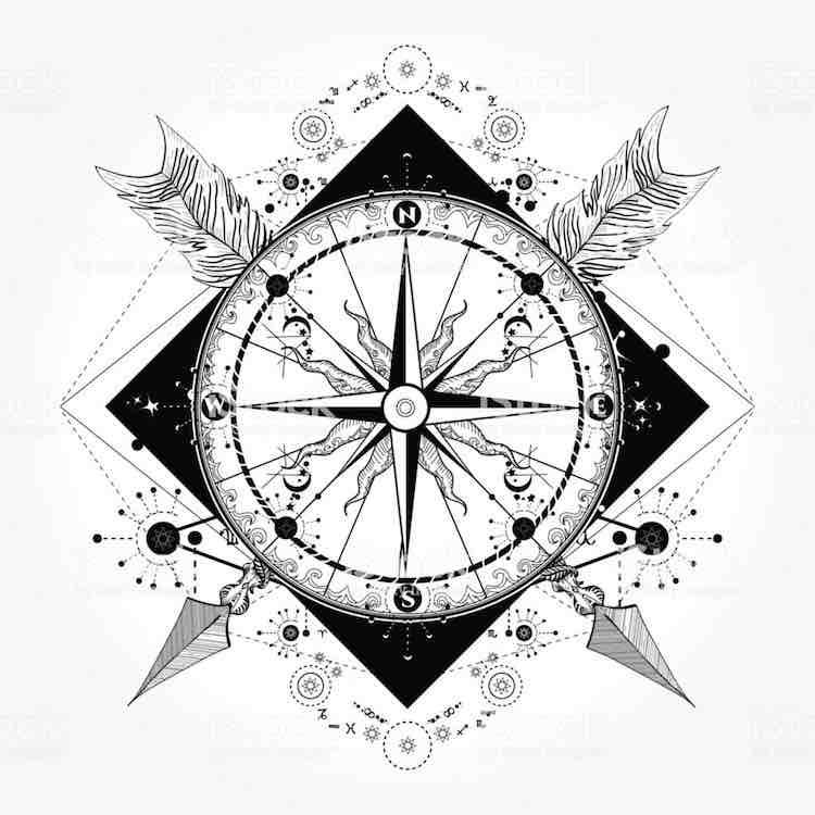 Orologio tattoo significato disegni e quanto costa farlo for Bussola tattoo significato