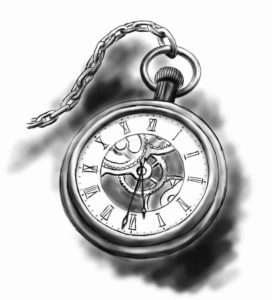 orologio senza lancette tattoo