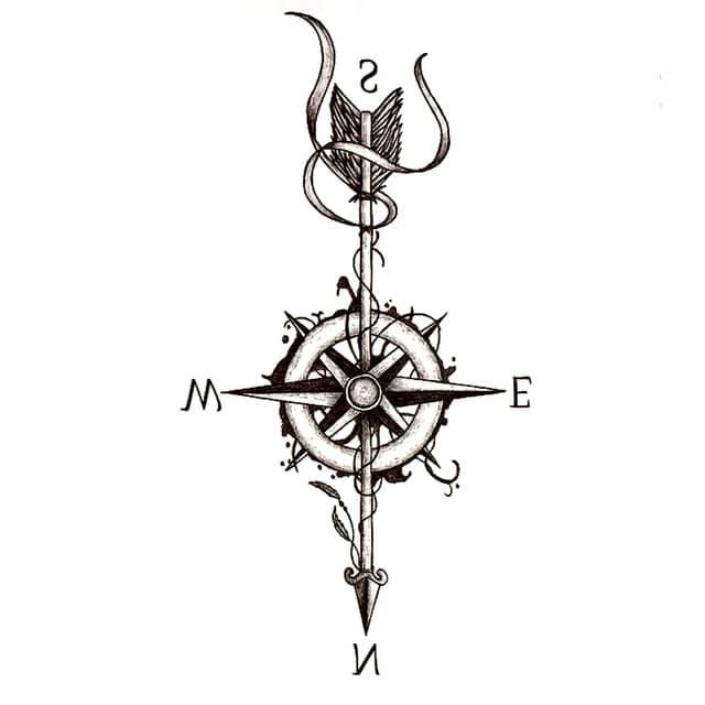 tatoo bussola significato
