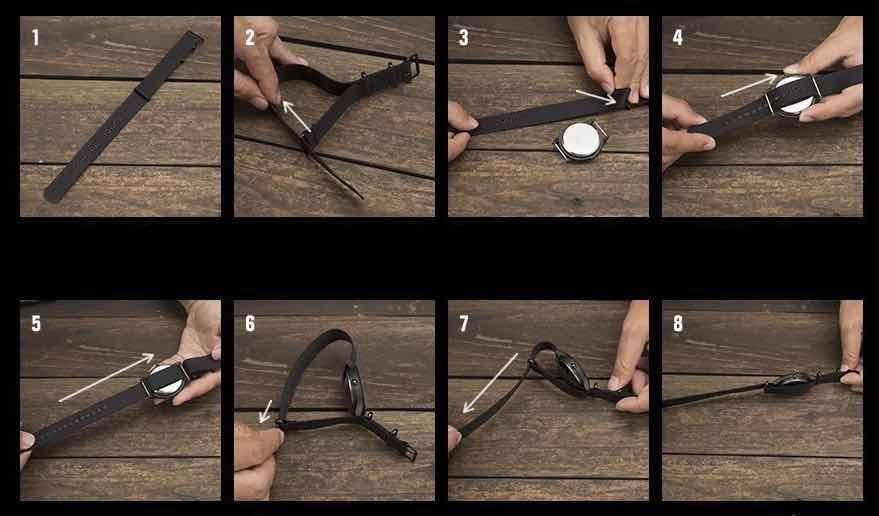 tutorial su come montare cinturino nato