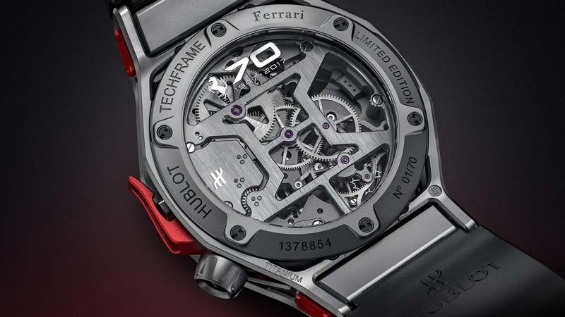 70° anniversario Ferrari Hublot Techframe