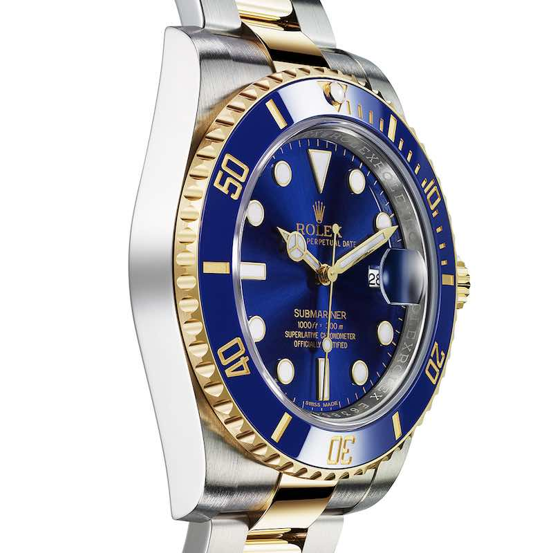 Orologio Rolex Submariner Date: Rolesor giallo e quadrante bliu