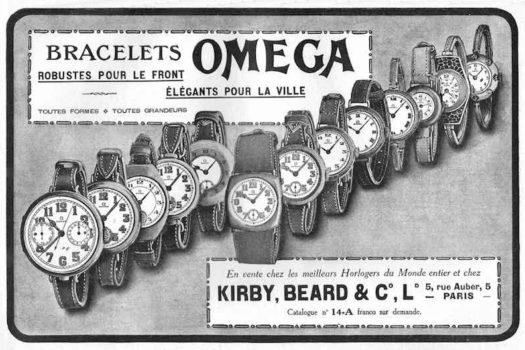 Storia Omega, orologi militari in prima linea