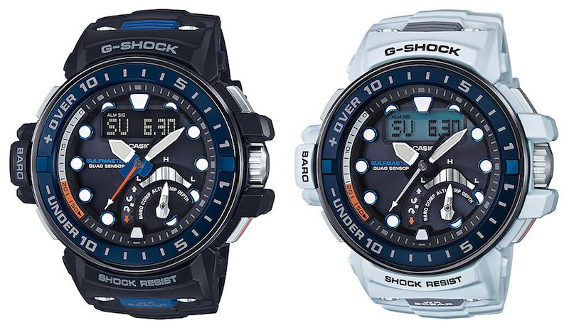 G-Shock Gulfmater GWN-Q1000-1AJF e Casio G-Shock GWN-Q1000-7AJF