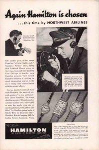 Nel 1930 Hamilton diventa il fornitore ufficiale di orologi delle quattro principali compagnie aeree degli Stati Uniti.