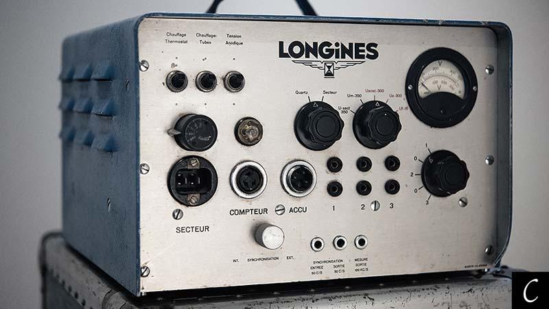 Il Chronocinégines dotato, nel 1954, del primo orologio Longines al quarzo,