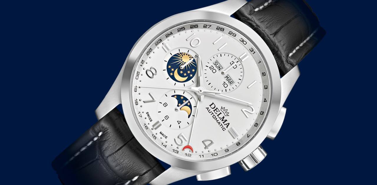 OROLOGI DELMA Klondike Moonphase 41601.680.6.012