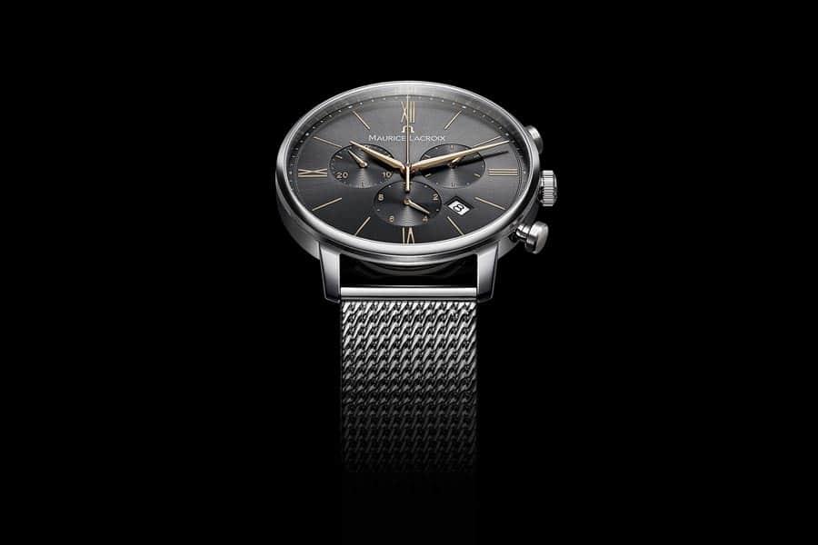 L'Eliros Chronograph ha la cassa in acciaio da 40 millimetri.