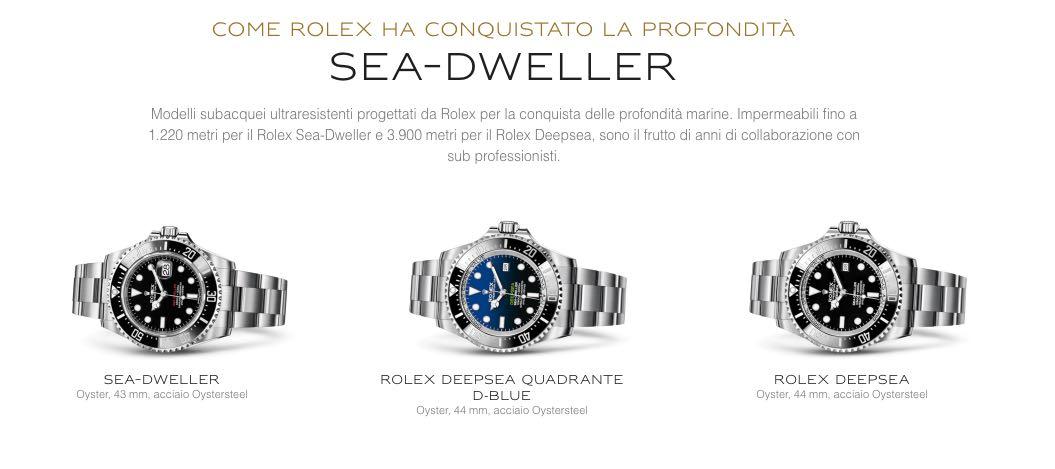 Prezzi degli orologi Rolex Deep Sea