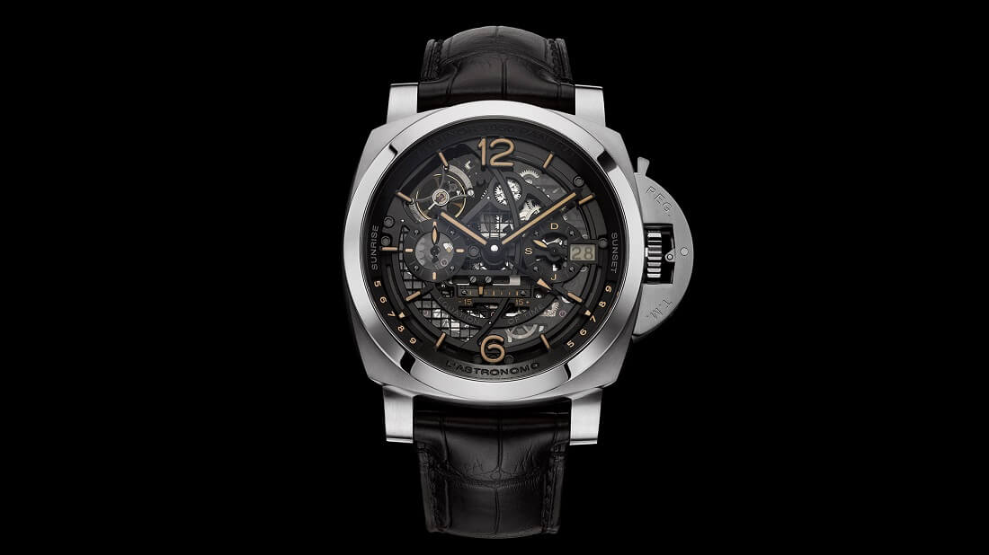 Panerai 2018 L Astronomo Luminor 1950 Tourbillon Moon Phases Equation of Time GMT