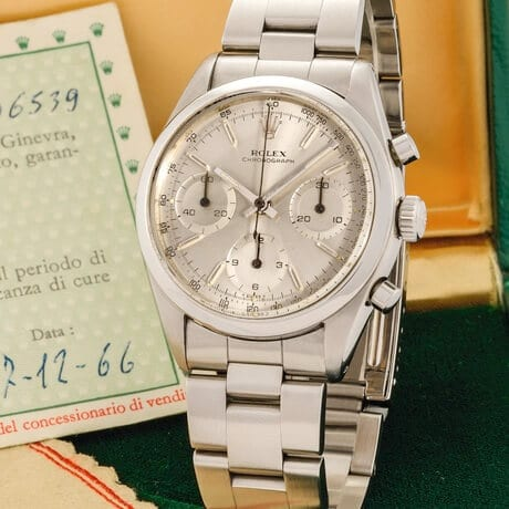 "Un Ref. 6238 ""Pre-Daytona"" No. 1206539 del 1965, battuto da Antiquorum nel 1965."
