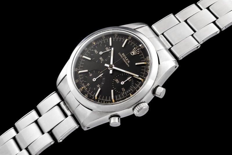 Il Rolex 6238 è stato proposto anche con il quadrante nero, molto ricercato oggi dai collezionisti.