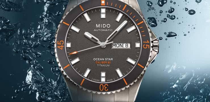 orologi subacquei economici Mido Ocean Star Captain Titanium