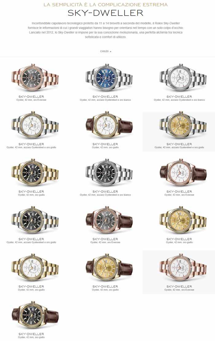 informazioni Rolex Sky Dweller prezzo