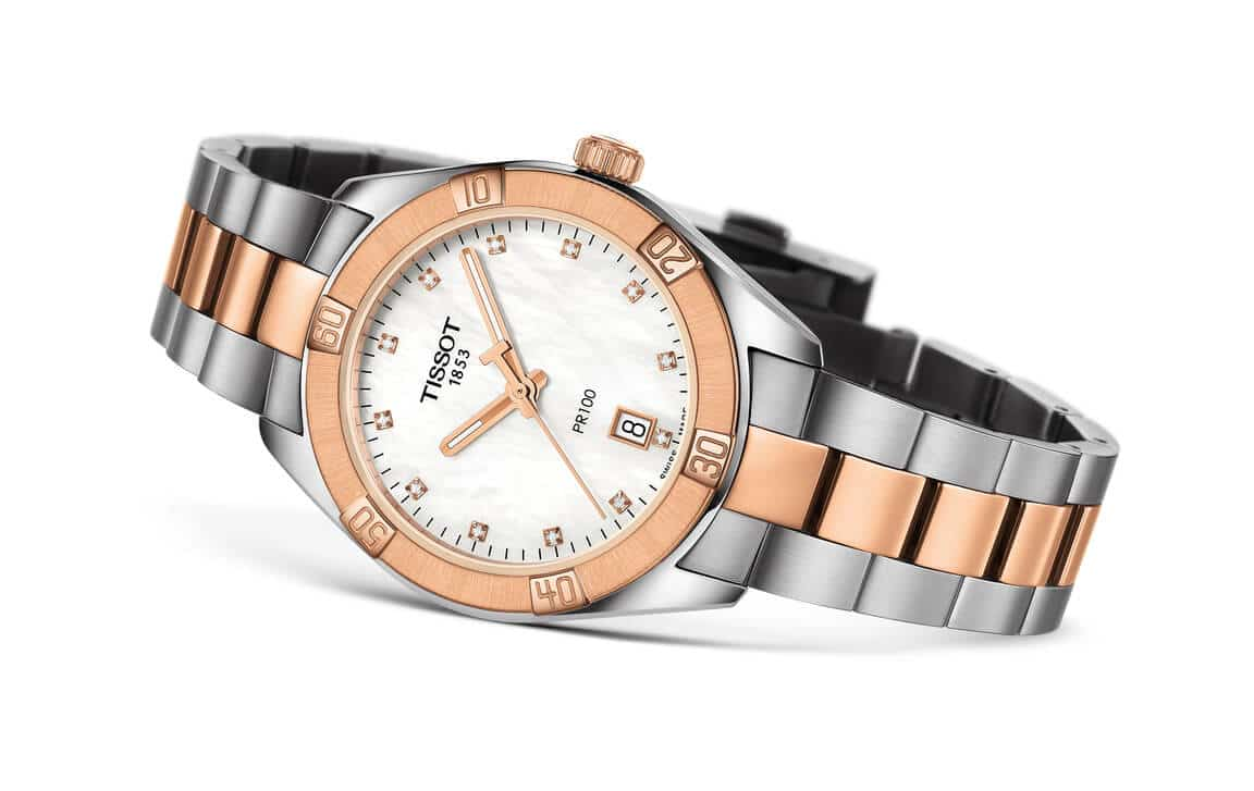 Tissot PR100 Sport Chic And Flamingo Ladies'