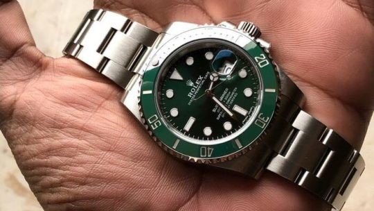 rolex submariner quadrante verde