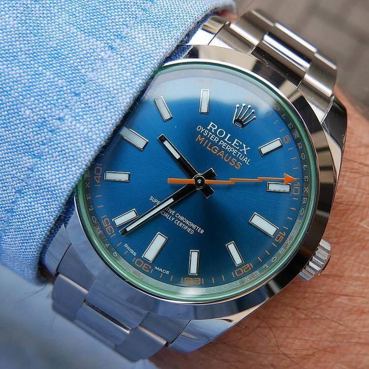 Rolex Milgauss con quadrante Blue-Z
