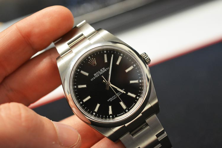 rolex oyster perpetual black