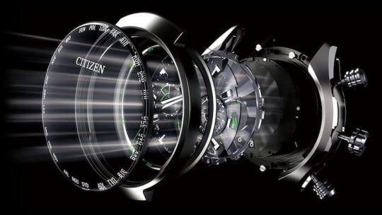 Sisetma degli orologi con meccanismo Citizen Eco Drive