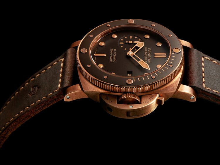 Il quadrante marrone del Panerai Submersible Bronzo