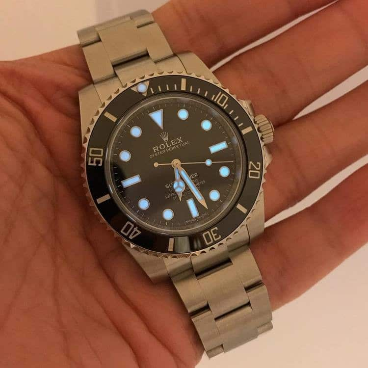 Luminescenza rolex submariner no date 114060