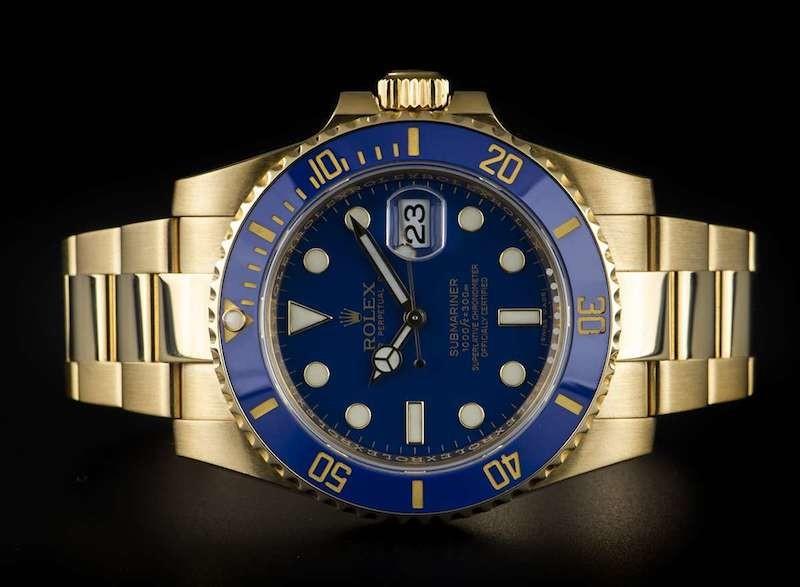 Rolex Blu 116618LB Oro giallo