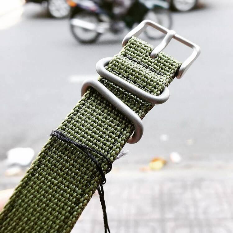 Cinturino Seiko verde militare
