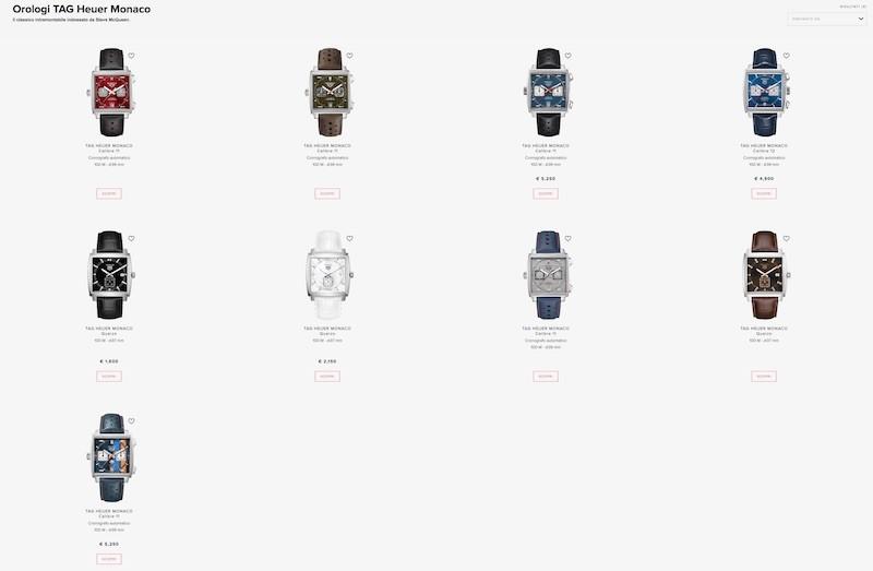 Nuovi modelli 2019/2020 Tag Heuer Monaco nuovi