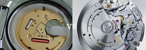 Differenze tra meccanismo orologio al quarzo o orologio automatico