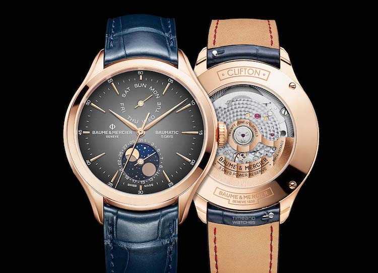 baume & mercier CLIFTON DAY/DATE CON FASI LUNARI