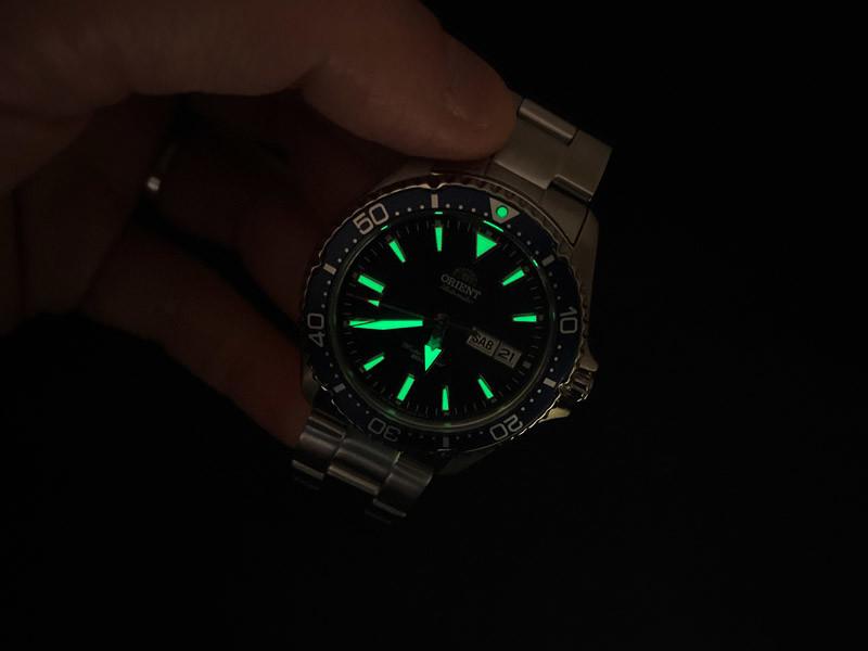 Luminosità orologi Orient