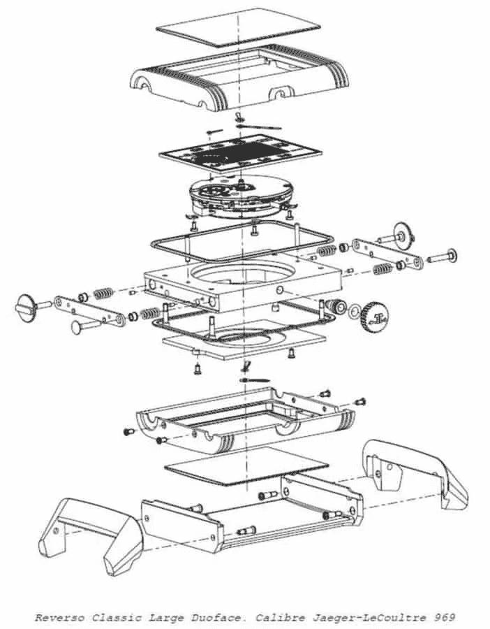 Composizione dell'orologio Jaeger-LeCoultre Reverso