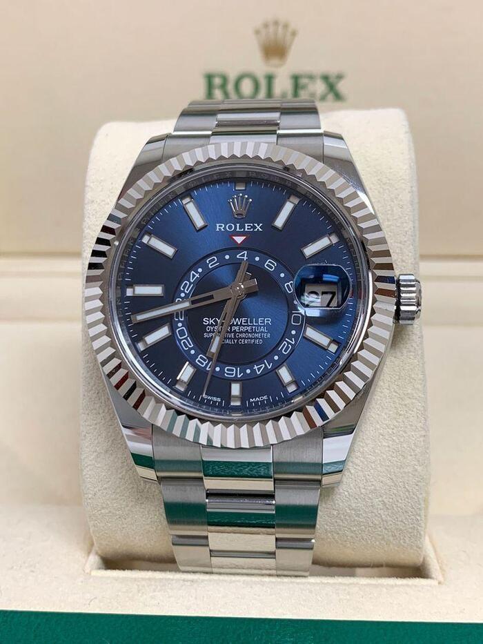 Rolex Sky-Dweller Watch White Rolesor Ref. M326934-0003