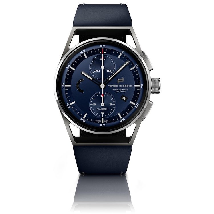 Orologio Porsche Design - 1919 Chronotimer Flyback Blue & Leather