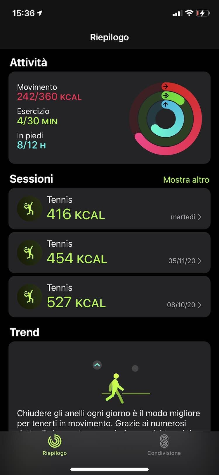 fitness tracking in Apple Watch