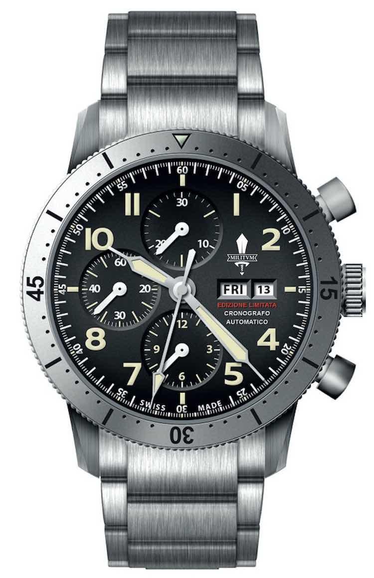 Cronografo Militum Automatico svizzero