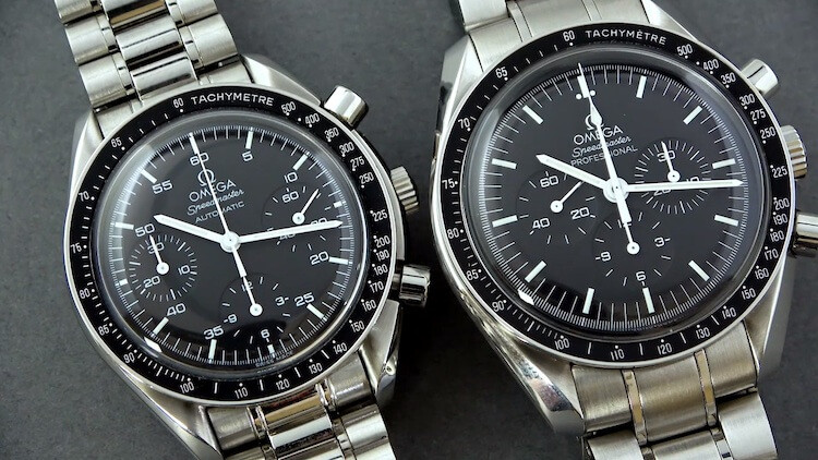 Omega Speedmaster Automatic Reduced VS Omega Speedmaster Professional