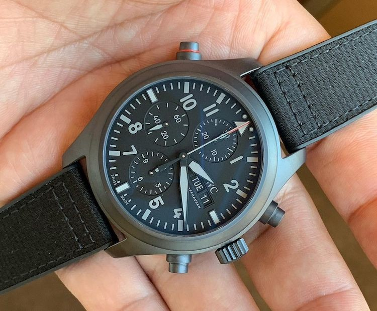 IWC Double Chronograph Top Gun Ceratanium